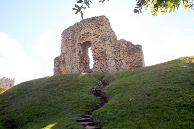 城堡保持,克赖斯特切奇,多西特 免版税库存照片