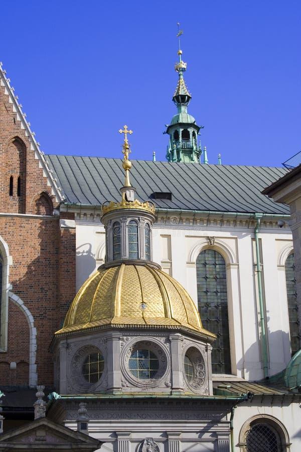 城堡克拉科夫波兰wawel 图库摄影
