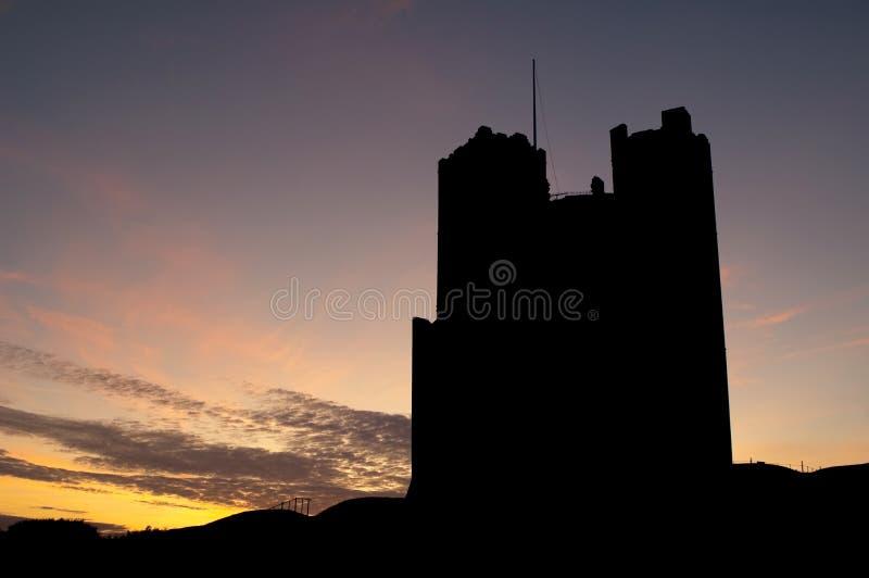 城堡剪影 库存照片