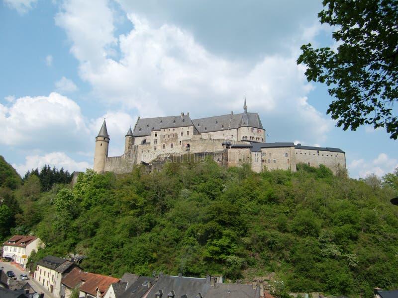 城堡卢森堡vianden 免版税库存照片
