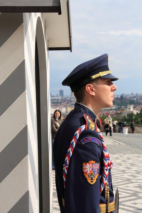 城堡卫兵布拉格 库存照片