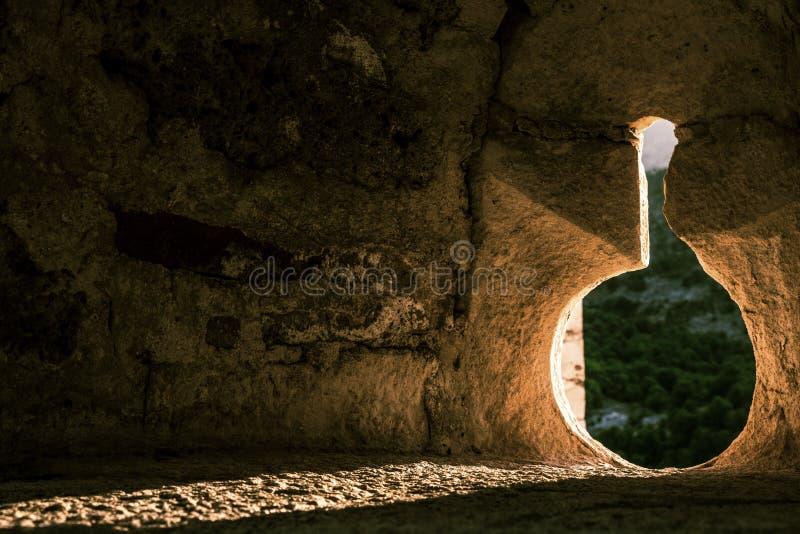 城堡发射孔 库存图片