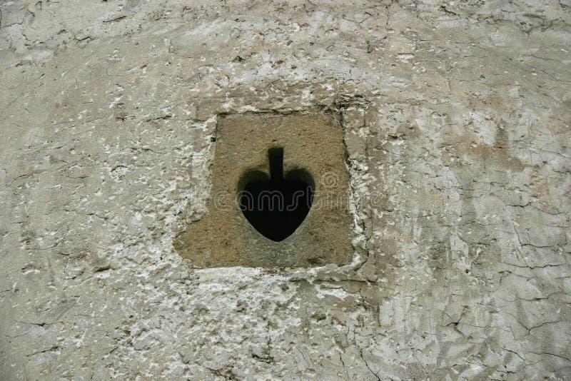 城堡发射孔 库存照片