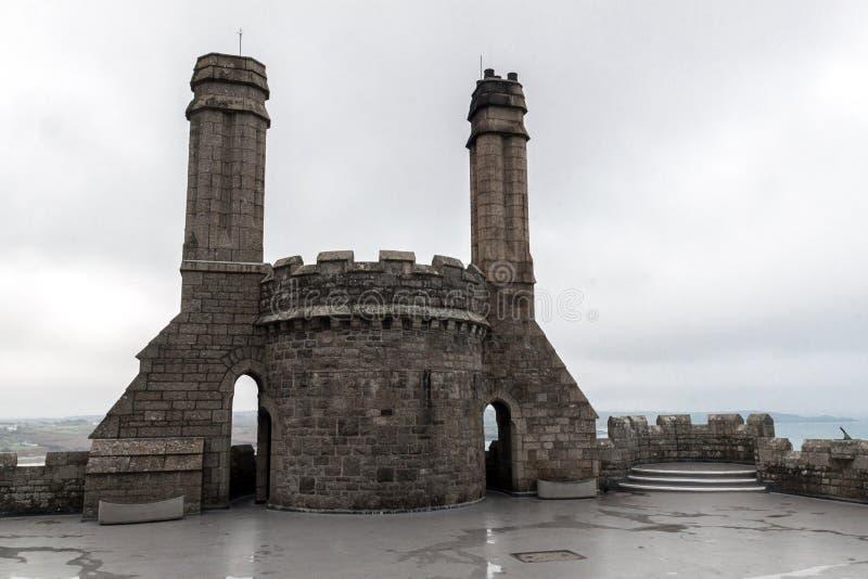 城堡和教会Mount's海湾的 库存照片
