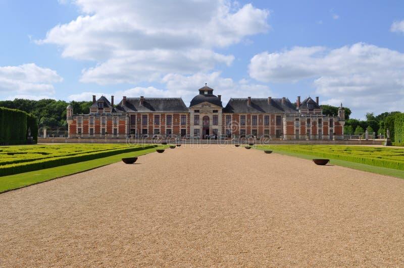 城堡和法国庭院,法国 库存照片