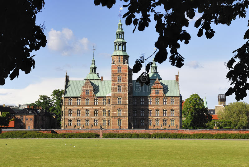 城堡哥本哈根rosenborg 免版税库存图片