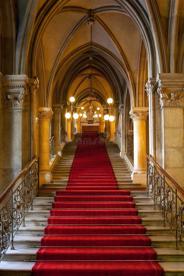 城堡哥特式内部 免版税库存照片