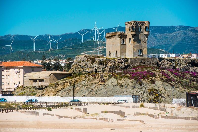 城堡圣卡塔利娜在塔里法角 图库摄影