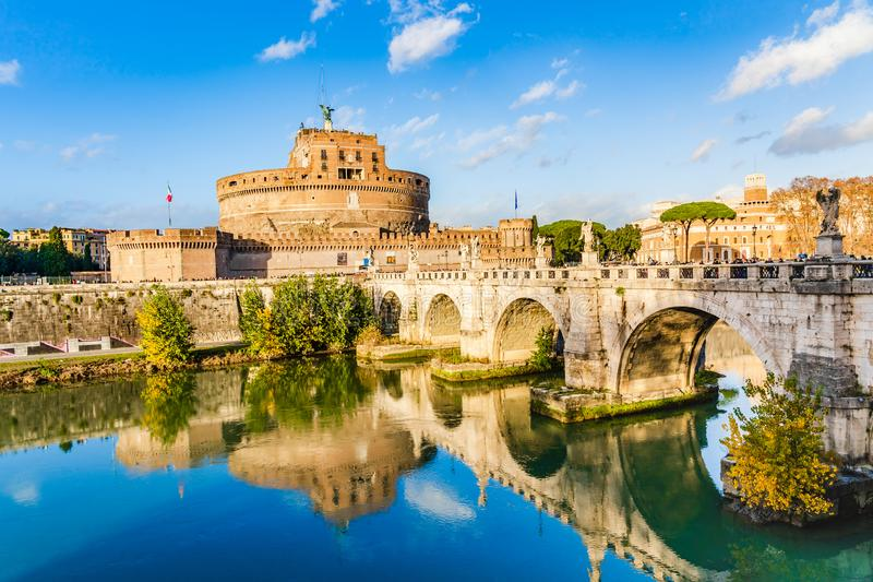 城堡圣徒哈德良安吉洛陵墓在罗马,意大利 库存图片