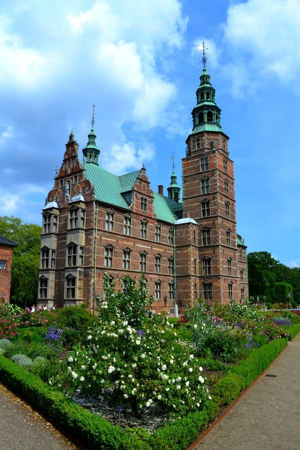 城堡在丹麦 免版税库存图片