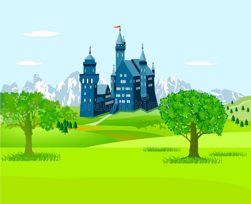 城堡在乡下 库存例证