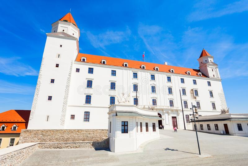 城堡在布拉索夫,斯洛伐克 库存照片