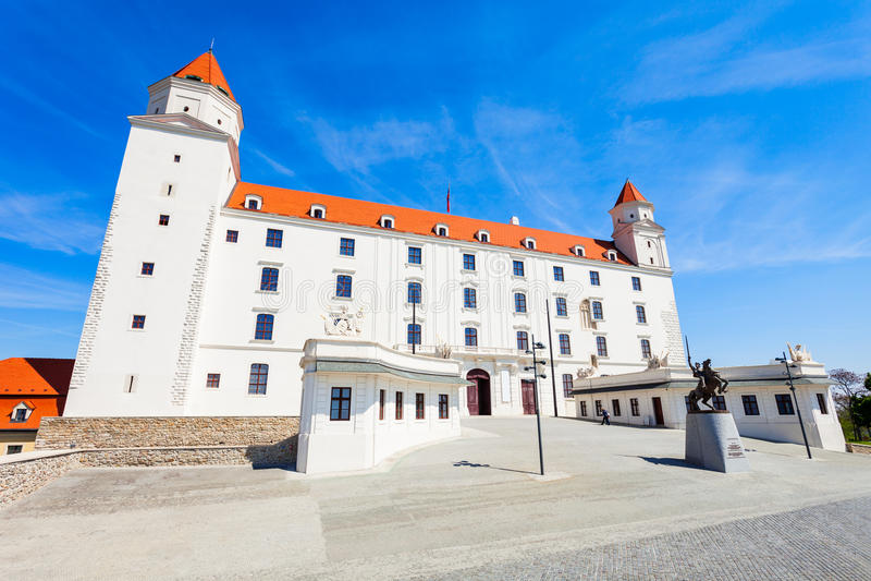 城堡在布拉索夫,斯洛伐克 免版税库存图片