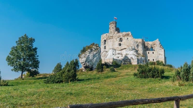 城堡在米罗 免版税库存图片