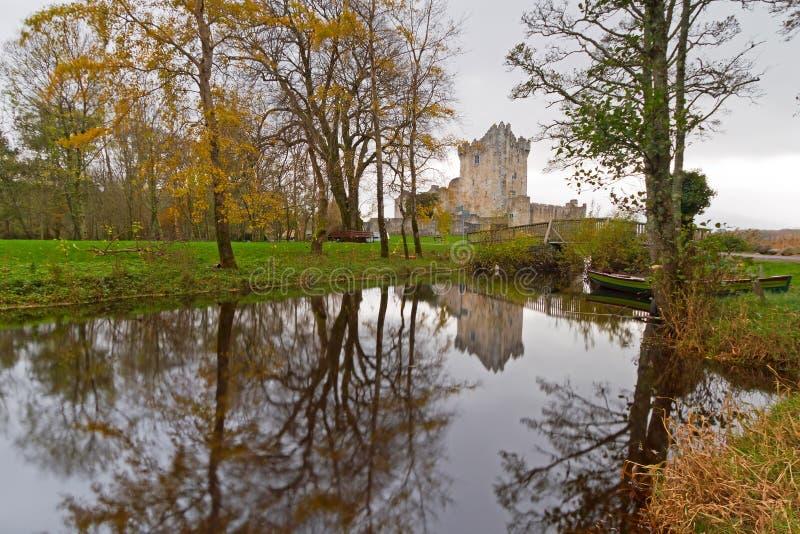 城堡在罗斯附近的爱尔兰killarney 库存图片