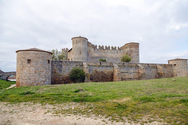城堡在阿尔梅纳尔村庄,索里亚 库存照片