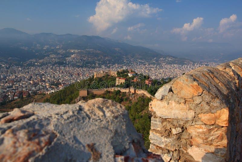 城堡在阿拉尼亚 火鸡 免版税图库摄影
