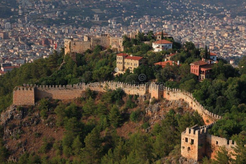 城堡在阿拉尼亚 火鸡 库存照片