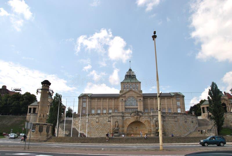 城堡在什切青 免版税图库摄影