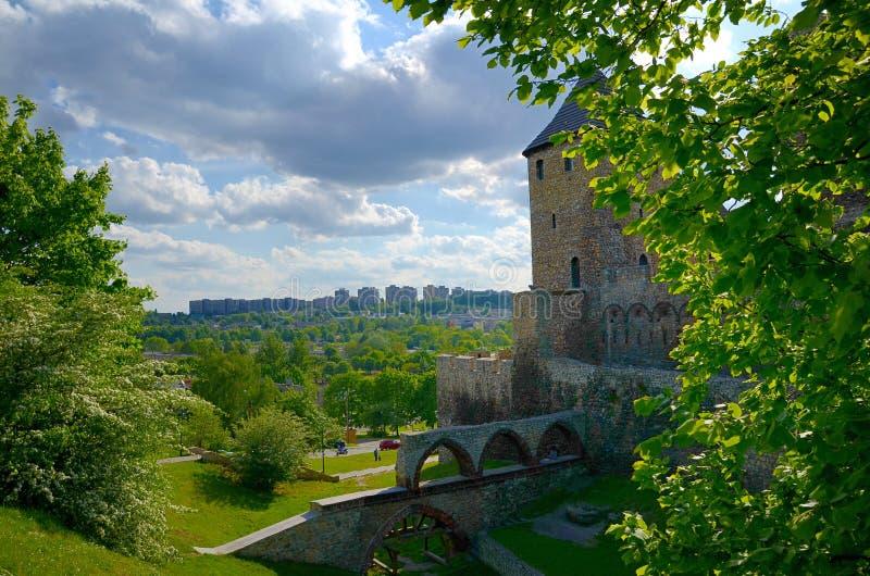城堡在Bedzin,波兰 库存图片