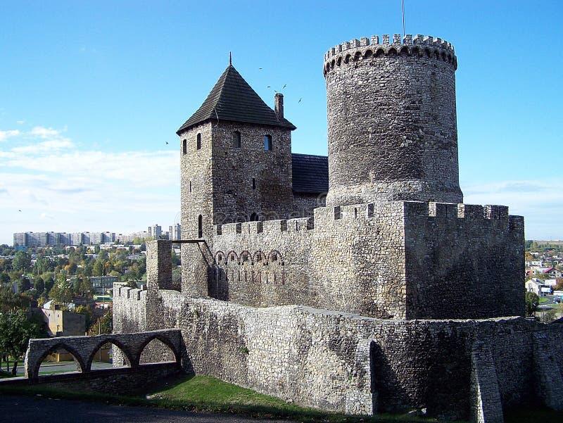 城堡在Bedzin (波兰) 免版税库存图片