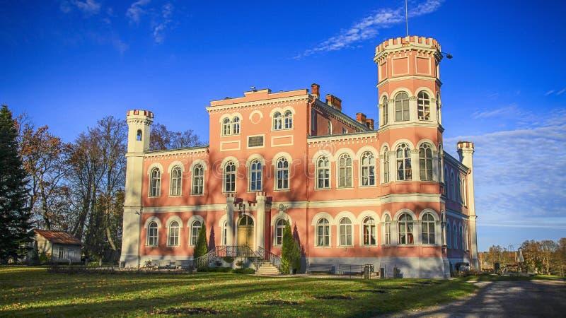 城堡在Birini,拉脱维亚 免版税图库摄影