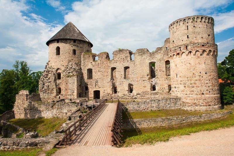 城堡在Cesis 库存图片