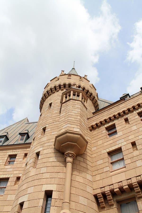 城堡在Epcot的加拿大亭子 图库摄影