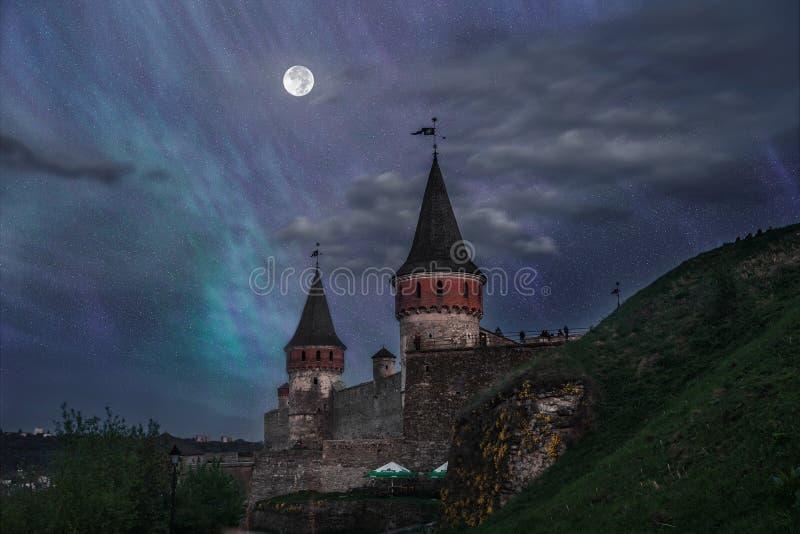 城堡在Kamianets-Podilskyi 免版税图库摄影