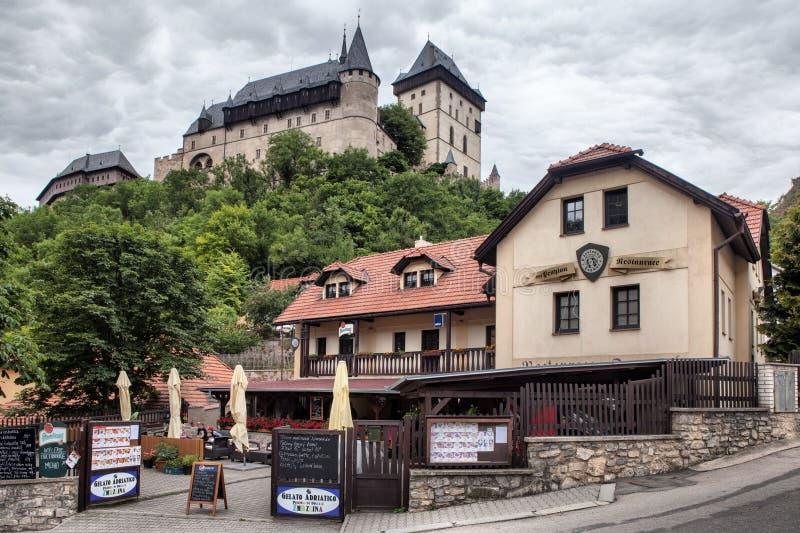 城堡在Karlstejn,捷克 库存图片