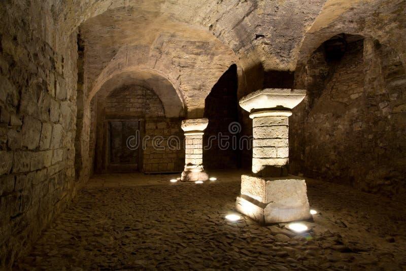 城堡地下室 库存照片