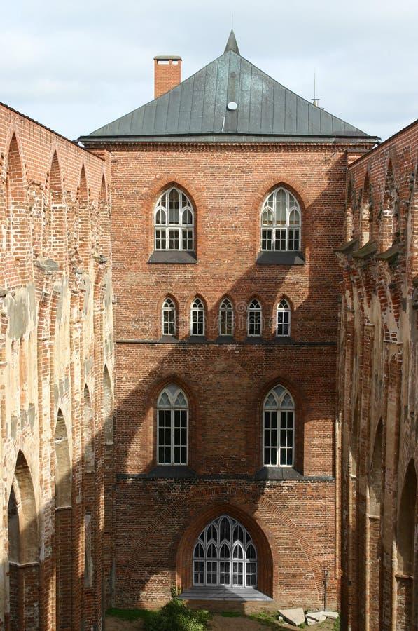 城堡城市爱沙尼亚tartu 库存图片