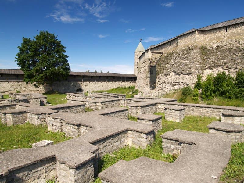 城堡基础墙壁 免版税库存照片