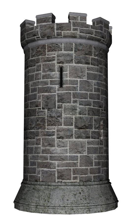 城堡塔- 3D回报 皇族释放例证