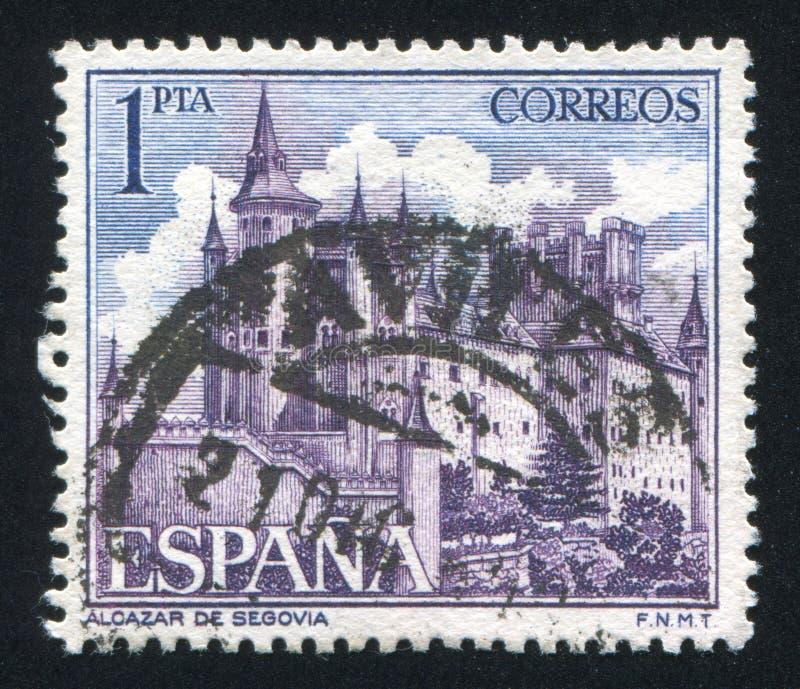 城堡塞哥维亚城堡 免版税库存图片