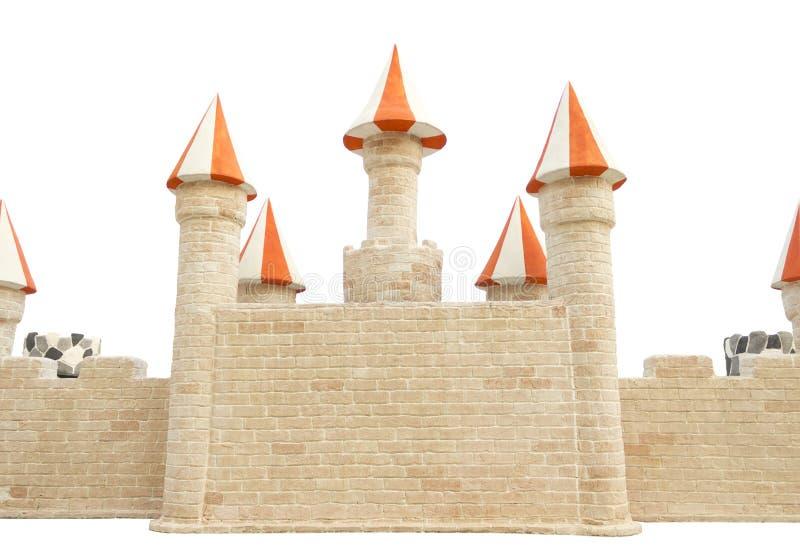 城堡墙壁。 免版税库存照片