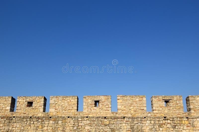 城堡墙壁城垛 库存照片