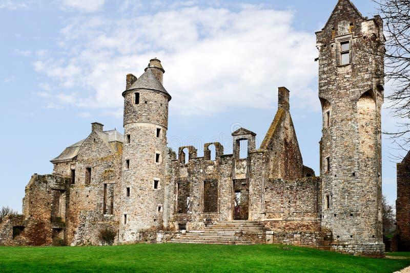 城堡大别墅法国老诺曼底 免版税库存图片