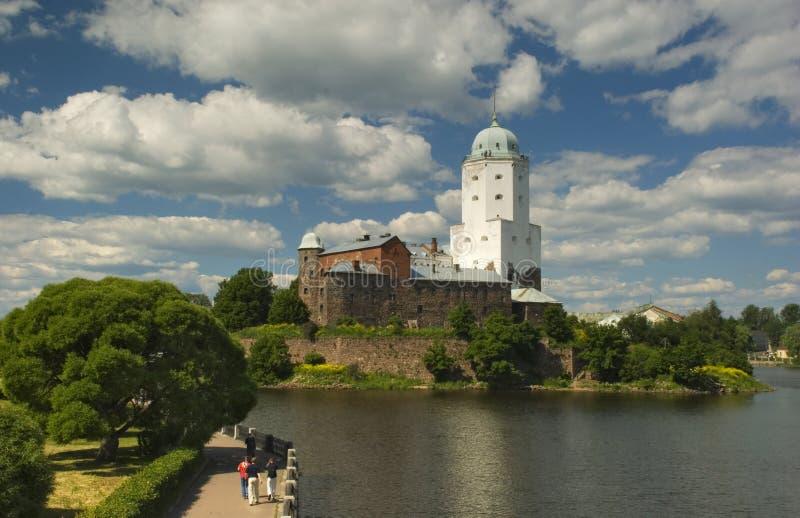 城堡奥拉夫st vyborg 免版税库存图片