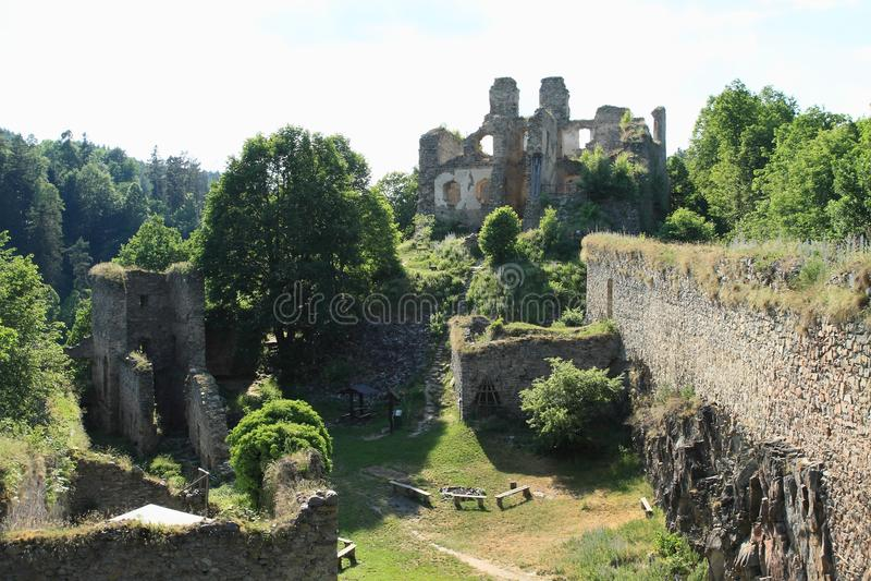 城堡女孩石头 图库摄影