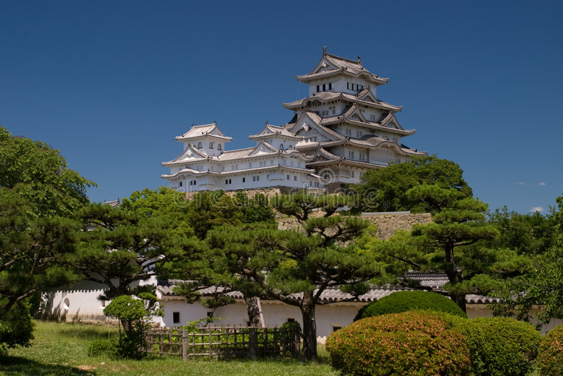 城堡姬路日本白色 库存照片