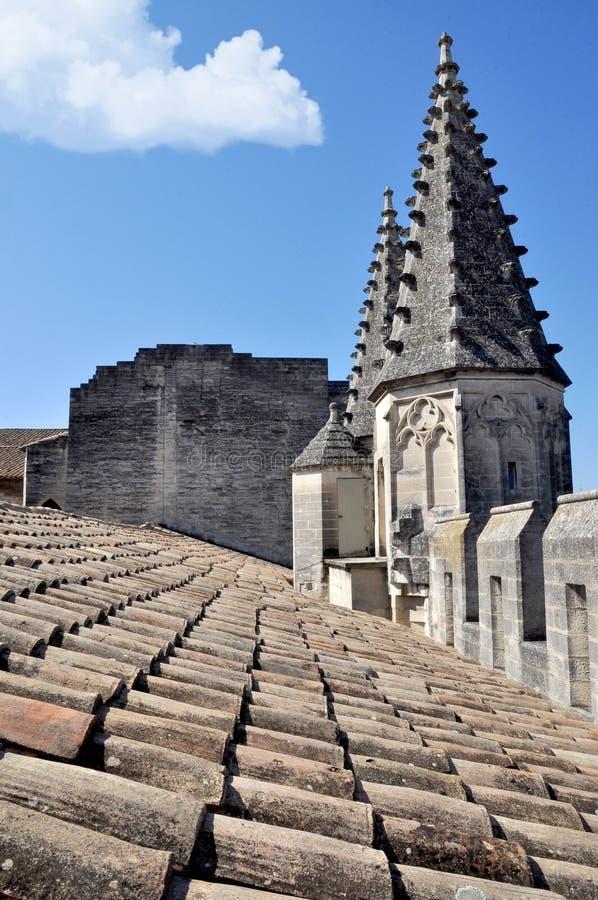 城堡屋顶 免版税库存图片
