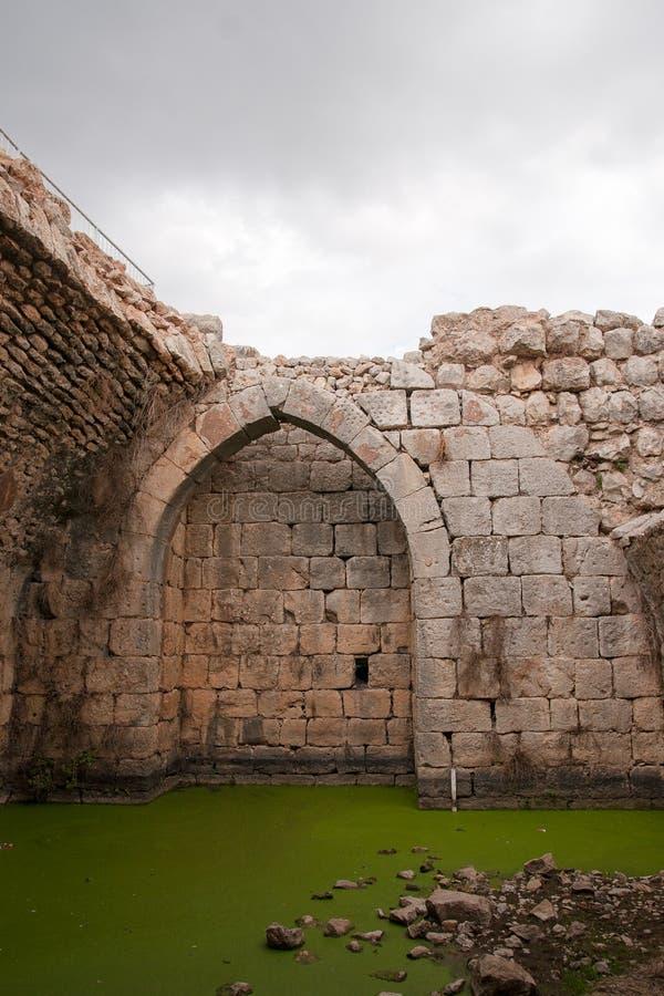 城堡废墟在以色列 库存照片