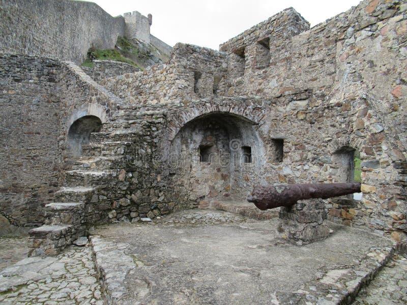 城堡废墟在阿连特茹 图库摄影
