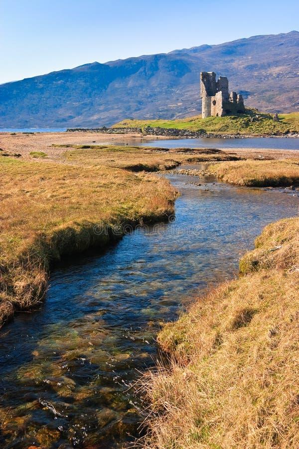城堡废墟苏格兰人 免版税库存照片