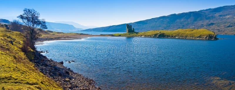 城堡废墟苏格兰人 免版税库存图片