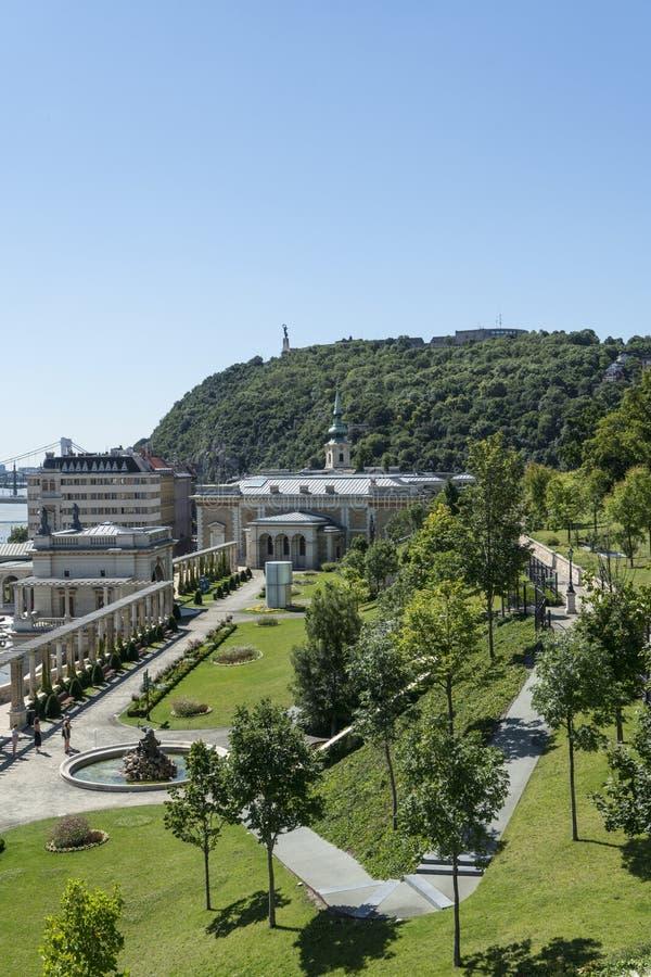 城堡庭院在布达佩斯 库存图片