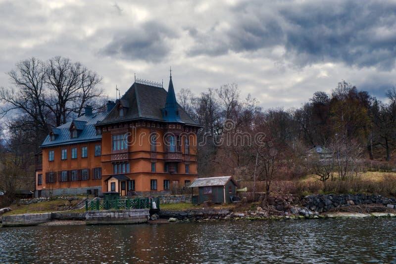 城堡形状的家 库存照片