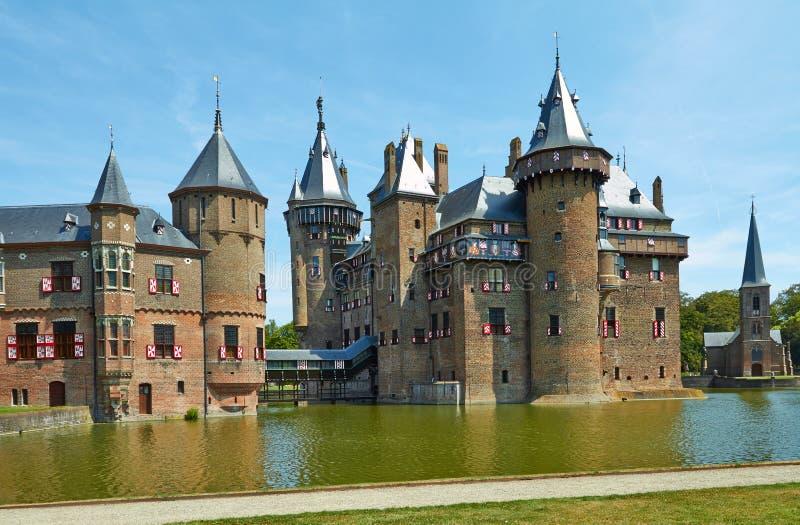 城堡德哈尔,位于乌得勒支省  免版税库存图片