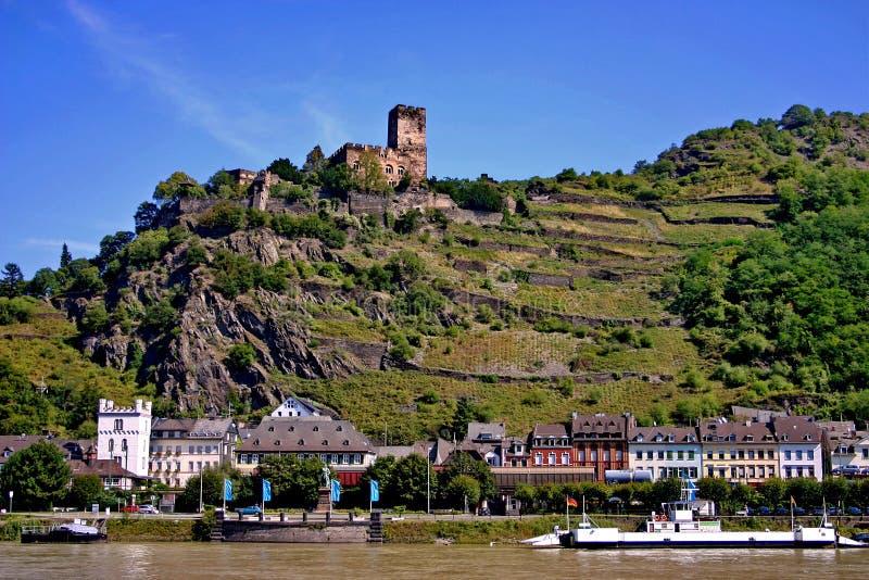 城堡德国gutenfels莱茵河 库存图片